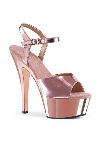 Met Gold Kiss con Pleaser Donna Rose Platea Rose Pu Sandali Gold Chrome 209 HS8qx4B