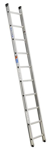 Werner D1510-1 300-Pound Duty Rating Aluminum Flat D-Rung Extension Ladder, 10-Foot