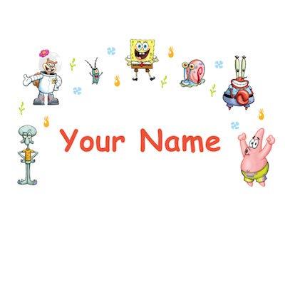Personalized SpongeBob SquarePants Kids Name Wall Decal