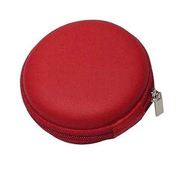 Portable Earphone Headphone Earbud Hard Case Pouch Storage BagPink FidgetFidget
