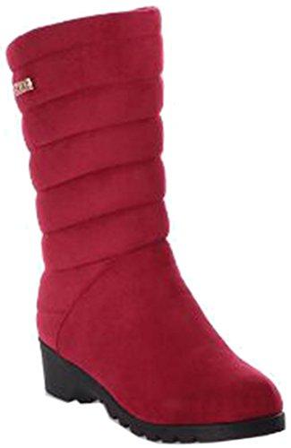 Laruise Women's Snow Boots Red K96psN
