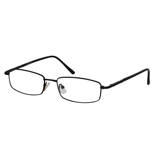 EyeBuyExpress Rectangle Black Reading Glasses Magnification Strength 8 ()