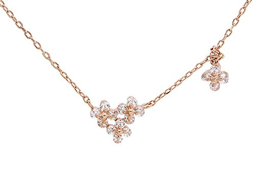 14K Rose Gold Over Sterling Silver Flower Pendant Necklace