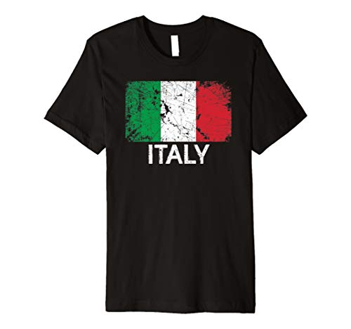 Italian Flag T-Shirt | Vintage Made In Italy Gift (Shirt Italian Golf Flag)
