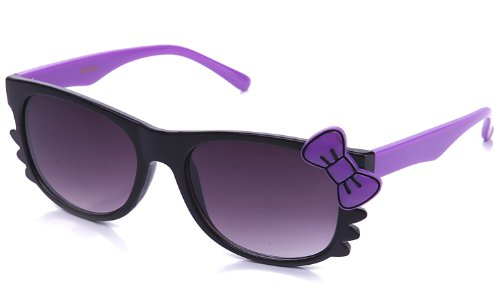 Kyra Women's High Fashion Two Tone Hello Kitty Bow Sunglasses 20% OFF 4 Pairs or - For Sunglasses $20 2