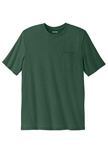 Kingsize Men's Big & Tall Lightweight Crewneck Cotton Tee Shirt With Pocket, (T-shirt Tee Jacket)