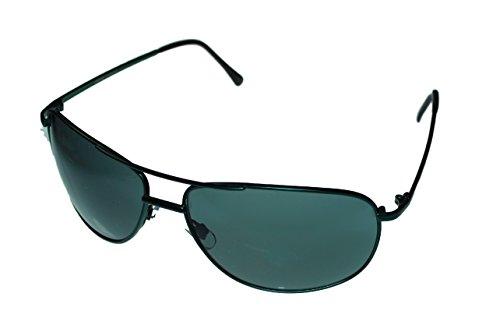Levi Sunglass Mens Dark Green Metal Aviator, Solid Smoke Lens LS134 2 (Eyewear Levi's)