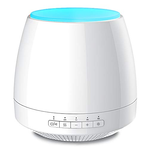 InnoGear Essential Oil Diffuser with Bluetooth Speaker Ultrasonic Cool Mist Humidifier 200ml Aromatherapy Aroma Diffusers with Music 7 Color LED Lights 4 Timers Waterless Auto Shut-off