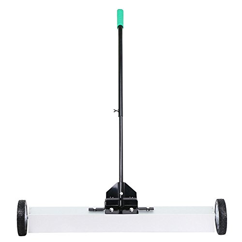 36'' Rolling Magnetic Sweeper Pickup Push Broom Floor Cleaner Tool Telescoping by Eight24hours