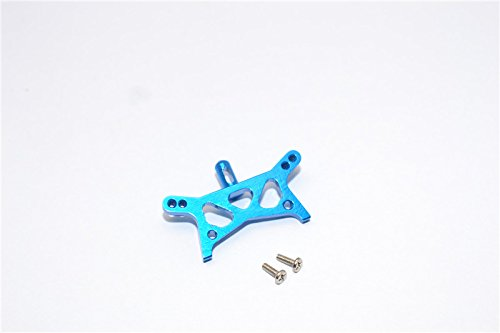 (Team Losi Micro T Upgrade Parts Aluminum Front Shock Tower With Screws - 1Pc Set Blue)