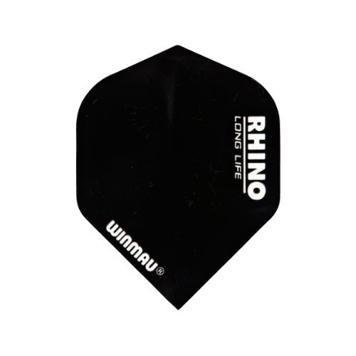 Winmau Rhino Long Life Standard Extra Thick Dart Flights (3 Sets of 3 - 9 Flights) (Black)