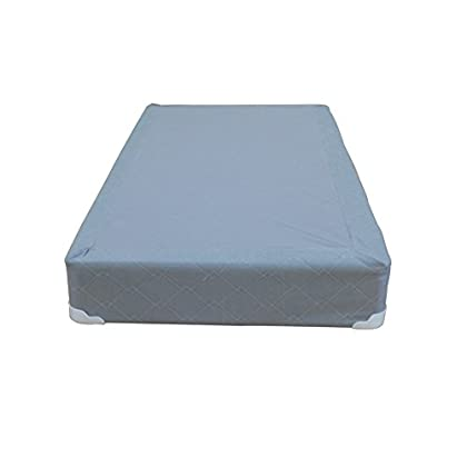 Image of Continental Sleep Memory Foam Gel 8-Inch Split Box Spring Fabric Stretch Knit, Twin/X-Large, Grey Home and Kitchen