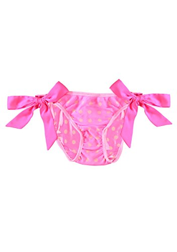 Artistic Revolution In Time Women's Crinkle-Chiffon Bikini, Extra Large, Power Pink InstaCool Dot