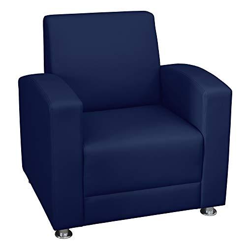 Regency 7601NV Milan Upholstered Lounge Chair Navy Blue