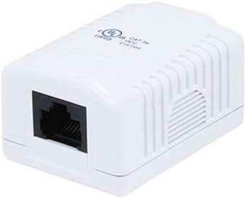 fyl 1 puerto Cat5e Cat 5e RJ45 red/Internet Cable en la pared montaje en superficie Caja compacta: Amazon.es: Electrónica