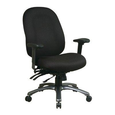 Office Star 8500 Series High Back Chair with Seat Slider in Titanium - Dark Pewter