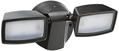 All-Pro FT1850LPC 1000 lm LED Dusk-to-Dawn Twin Head Flood Light, Bronze