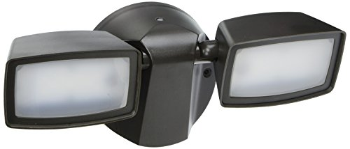 All-Pro FT1850LPC 1000 lm LED Dusk-to-Dawn Twin Head Flood Light, Bronze by All Pro