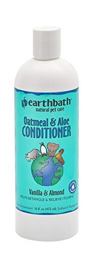 Earthbath Oatmeal Crème Rinse & Conditioner, Vanilla Almond Scent 16 oz