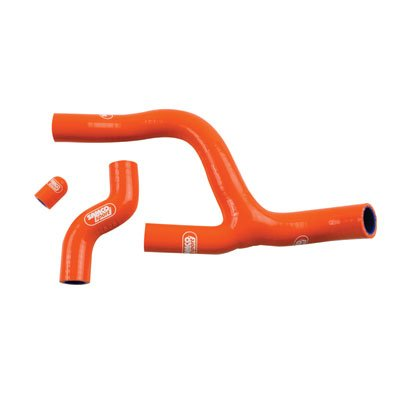 SamcoSport Radiator Hose Kit with Thermostat Bypass Orange - Fits: KTM 250 XCF-W 2014-2016 by SamcoSport