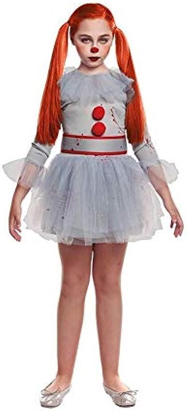 Disfraz de Payasa Sádica para niña en Color Gris 10-12 Años ...
