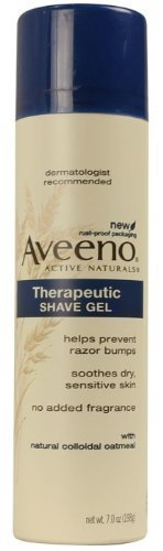 Aveeno Therapeutic Shave Gel with Natural Colloidal Oatmeal, 7 Oz (Pack of 6)