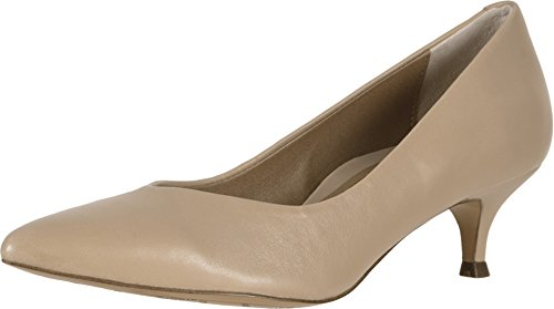 Vionic Women's Kit Josie Kitten Heels - Ladies Pumps with Concealed Orthotic Arch Support Sand Leather 10 W US