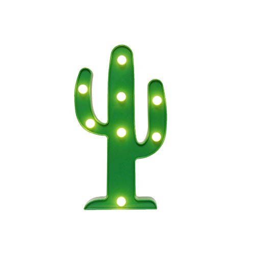 Marquee Light GUOCHENG Decor Light LED Night Light Battery Operated Table Lamps on Wall for Party Children Kids Bedroom Lighting Decoration Birthday,Christmas Gifts for Kids Green Cactus