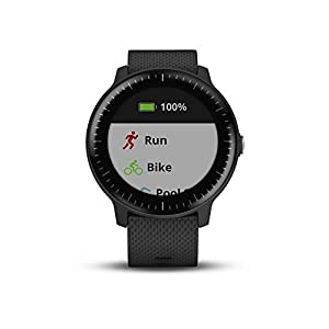 Garmin vívoactive 3 Music, GPS Smartwatch with Music Storage, Supports Spotify – Black (Renewed)