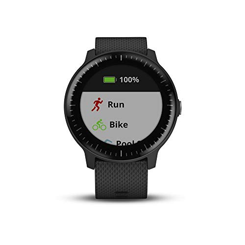 Garmin v voactive 3 Music, GPS Smartwatch with Music Storage, Supports Spotify – Black Renewed