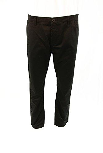 TNM Men's Work/School Uniform Chino Long Pants 36x31 Black (School Uniform Mens Zip)
