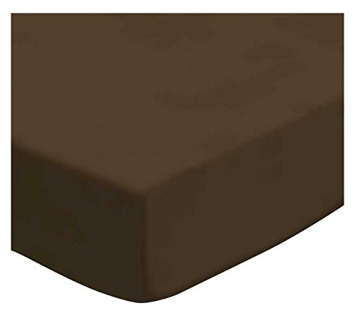 SheetWorld Fitted Cradle Sheet - Flannel - Brown - Made In USA