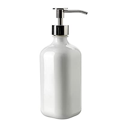 IKEA BESTAENDE - Dispensador de detergente, vidrio blanco - 5,5 dl