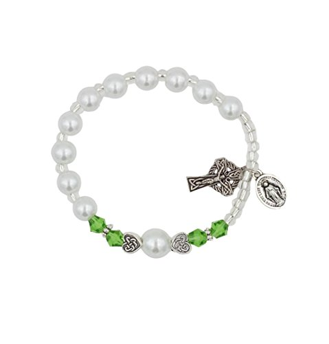 Christian Living Girls Irish Celtic Stretch Rosary Bracelet with Celtic Crucifix by Christian Living (Image #3)