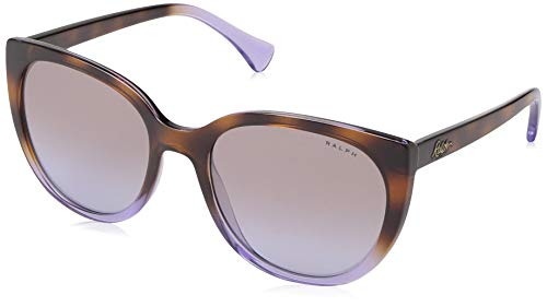Ralph by Ralph Lauren Women's 0ra5249 Square Sunglasses, top havana gradient on transparent, 55.0 ()