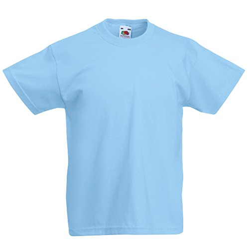 Sky Bambini Fruit The Unisex Valueweight Loom T Corta shirt Of Manica Blue qwf7Fv6