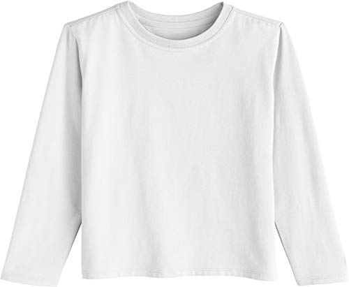 - Coolibar UPF 50+ Toddler Long Sleeve Everyday T-Shirt - Sun Protective (3T- White)