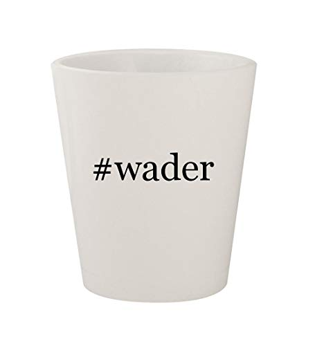 #wader - Ceramic White Hashtag 1.5oz Shot Glass for sale  Delivered anywhere in USA