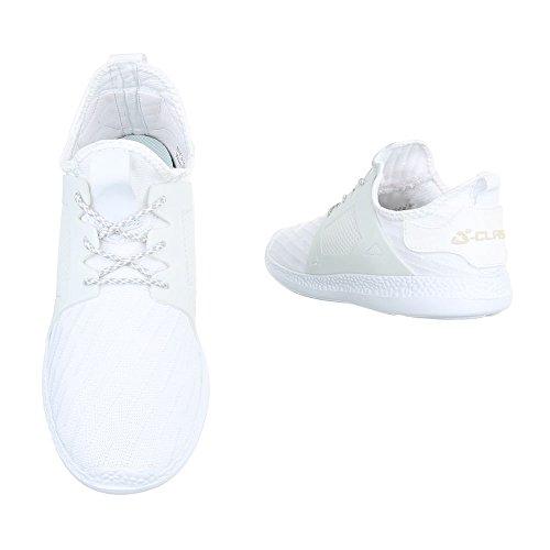 Ital-Design - Zapatillas altas Mujer Weiß BY3101