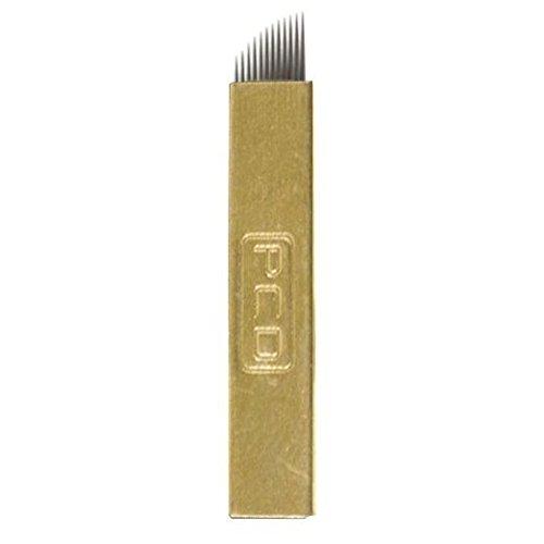 EZTAT2 50Pcs Microblading Needles Permanent Makeup Manual Eyebrow Blades 12 Sloped Needle by EZTAT2 (Image #5)