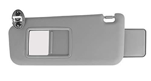 Xislet Left Side Sunvisor Replaces for 2006-2012 Toyota Rav4 Driver Side Sun Visor Sunroof with Overhead Light Switch - 74320-42501-B2 - Gray (2007 Rav 4 Driver Visor)