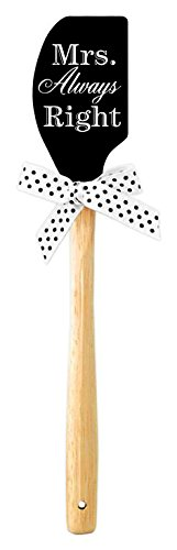 Brownlow Gifts Mr. and Mrs. Right Silicone Spatula, Black
