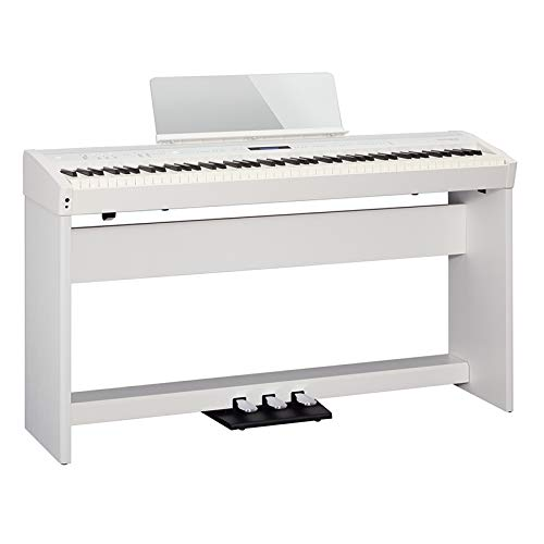 Roland ローランド FP-60-WH 電子ピアノ【専用スタンド+専用3本ペダルユニットセット】   B07PF6K8Z9