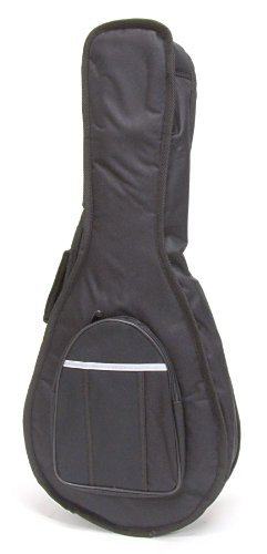 Deluxe Stronghold Brand® Padded Mandolin Bag (SOFT-CASE) -With Zippered Pouch,Back Pack Straps, and Carrying Handle