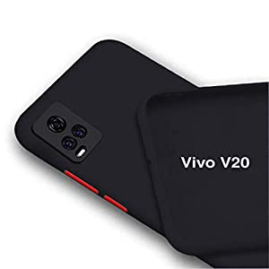 BRUSSEL – Soft Matt TPU Back Coverfor Vivo V20   Shockproof with Camera and Screen Protection Case Cover for Vivo V20…