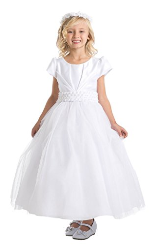 iGirlDress Big Girls Sleeves Communion Special Occasion D...