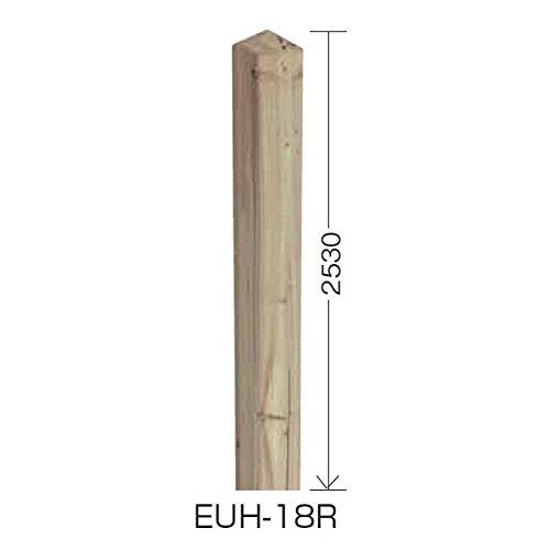 タカショー e-ウッド柱 H18用 別注塗装済み(ホワイト以外) アジアンブラウン B00ALSD7IS 本体カラー:アジアンブラウン