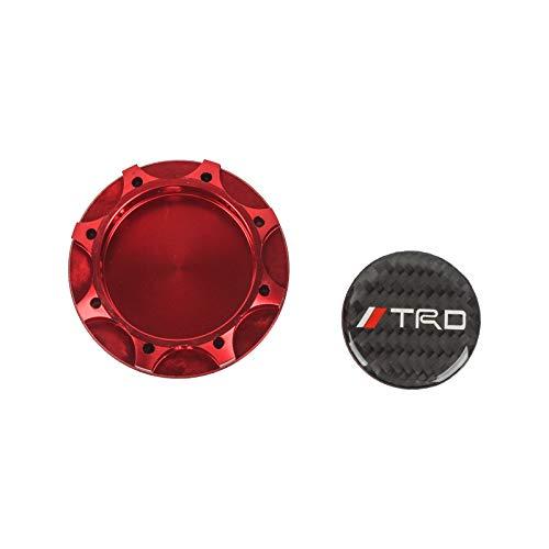 CARBON TRD Racing RED Engine Oil Filler Cap Oil Tank Cover Aluminium