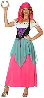 Disfraz de Zingara Rosa - Mujer, M: Amazon.es: Ropa y accesorios