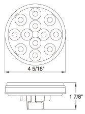 Pair-of-2-LED-4-Round-Back-up-Reverse-Light-Kits-Include-Grommet-Plug-Clear-Lens-White-Light-Truck-Trailer-RV-25108C-WK